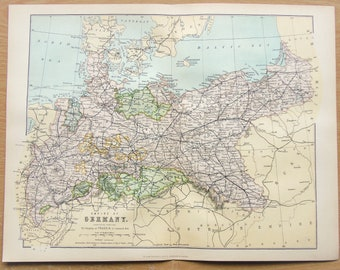 Northern germany map Etsy