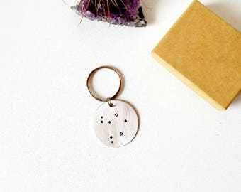 Libra Horoscope keychain | Constellation Keychain | Astrology gift | Zodiac keychain | Celestial | Pisces gifts | Personalized gift for her