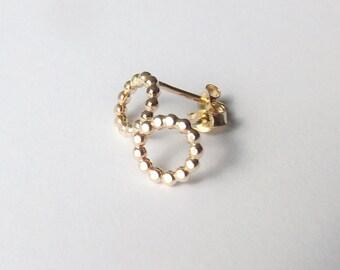 Karma Earrings,Stud Earrings,Circle Studs,Karma Studs,Circle Earring Studs,Simple Earring Studs,Simple Gold Stud Earrings,Circle Earrings