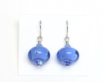 Periwinkle Blue Mini Dangle French Hook Earrings