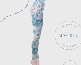 High waisted yoga leggings. Festival Clothing. Yoga tights. Yoga wear. Yoga art. Yoga pants. Fashion leggings. gift for yogi. Serenity yoga