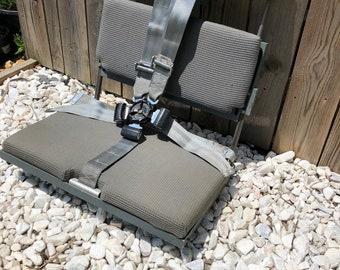 Airplane jump seat, aircraft furniture