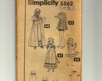 Simplicity Child Dress Pattern 6352