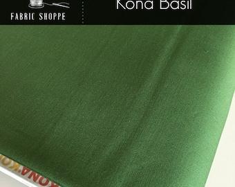 Kona cotton solid quilt fabric, Kona BASIL 136, Kona fabric, Solid fabric Yardage, Kaufman, Christmas fabric, Choose the cut