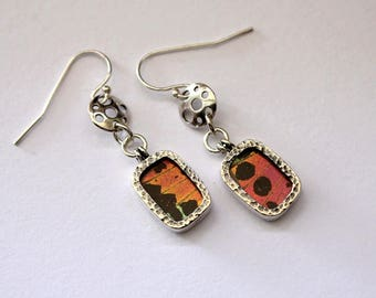 Boho earrings Insect earrings Boho jewelry Butterfly earrings Insect jewelry Mother in law Gift for women Moms gift Butterfly wing jewelry