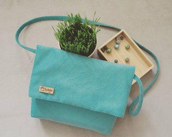 Everyday cross-body bag / casual bag / woman bag / biruza color