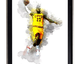 Watercolor Lebron James #2  Art Print Matte Print Poster