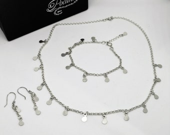 Silver Rain set in sterling silver
