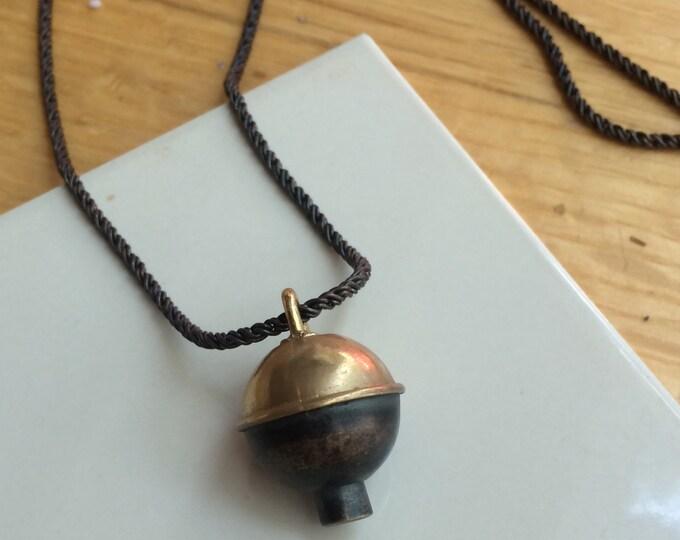 Bobber Necklace in Brass