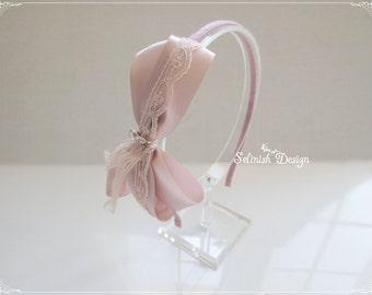 Blush Pink Headband, Women Headband, Blush Pink Wedding, Women Headband, Pink Fascinator-code:HB154blush