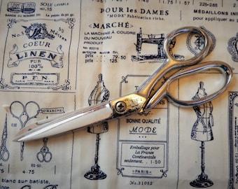 Vintage Serrated Richards Sheffield Scissors 7.5 Inch