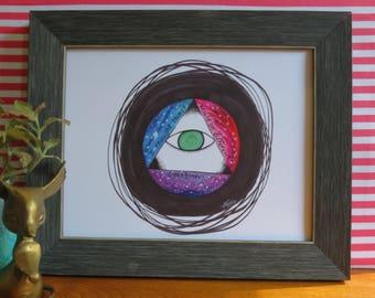 Awakening Print, Cosmic Art Print, Cosmic Home Decor, Wall Art, Bedroom Wall Art, Intuitive Art