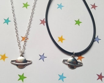 Planet necklace, Saturn necklace, Pendant necklace, Space jewellery, Outer space jewellery,Galaxy necklace, Galaxy jewellery, Planet, Saturn