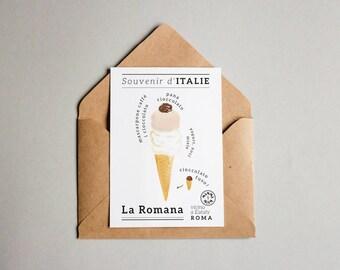 Souvenir d'Italie - La Romana (postcard)