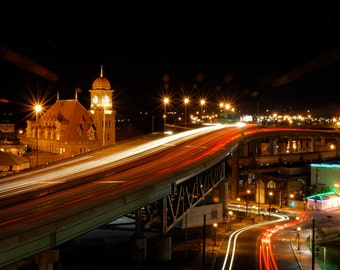 Night Photography Print Main St Station Richmond, Va