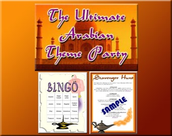 3 Arabian Party Downloads - Arabian Bingo, scavenger Hunt lists and more - for a great Arabian or Aladdin Party