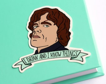 Vinyl Tyrion Lannister Game Of Thrones Sticker (Die Cut)