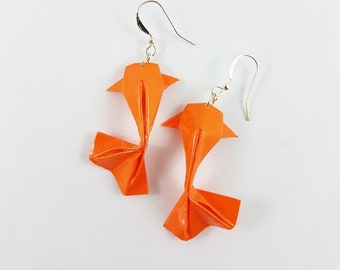 Origami Koi Fish Earrings,Koi Fish Gifts,Koi Fish Jewelry,Paper Anniversary Gifts,First Anniversary Gift,Gift For Her,Koi Fish,Fish Earrings