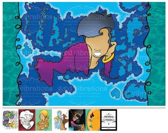 """24""""x 36"""" Giclée Print of """"In the Water, In the Sky"""""""