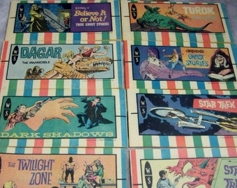 Dan Curtis Unused NEW Old Store Stock - Complete Set of 9 Giveaway Mini Comics Comic Premium Giveaway