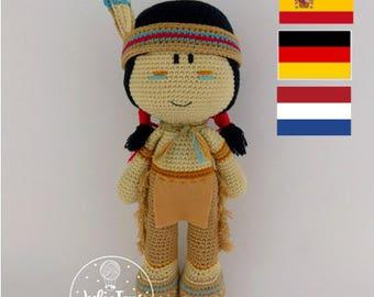 Cochise  Indian  -PDF crochet pattern
