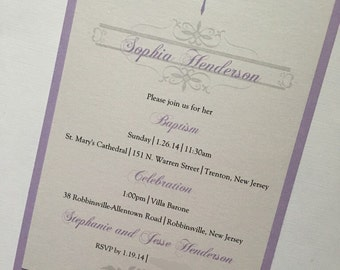 The Sophia H//Baptismal Invitation