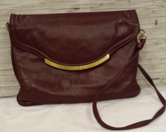 Vintage Etienne Ainger over-the-shoulder chocolate bag