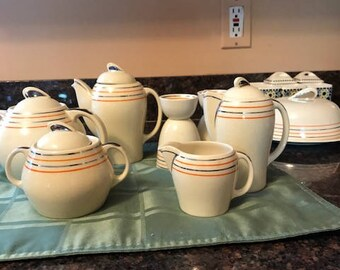 Mid Century Luncheon Set - not omplet yet absolutely mint and beautiful.