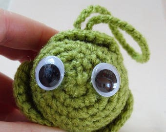 Brussels Sprout Christmas Tree Decoration Crochet Sprout Tree Ornament Googly Eyes Sprout Veg