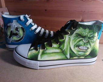 Hand Painted, One of a Kind Canvas Shoes