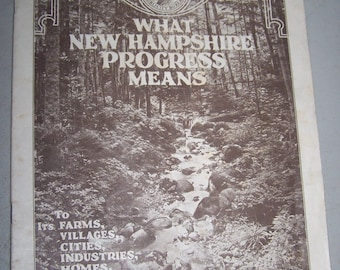 "Vintage 1927 ""What New Hamshire Progress Means"" Magazine Section 2"