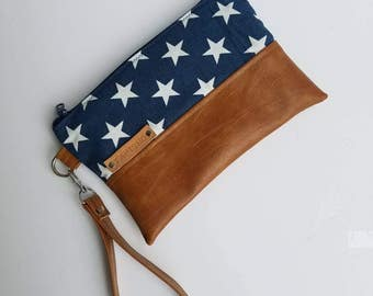 Vegan Leather Clutch Bag/Wristlet Clutch Purse/Faux Leather Clutch Wallet/Women Crossbody Purse/Iphone Wristlet Bag/Cellphone Clutch Bag