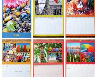 2016 A3 Colourful Photographic Calendar