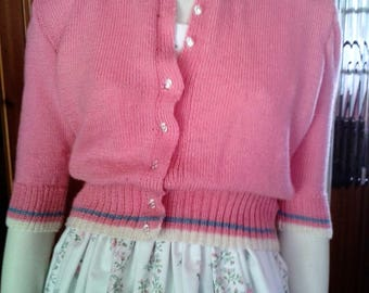 Pretty Handknitted Summer Cardigan taken from a Vintage 1950s Knitting Pattern