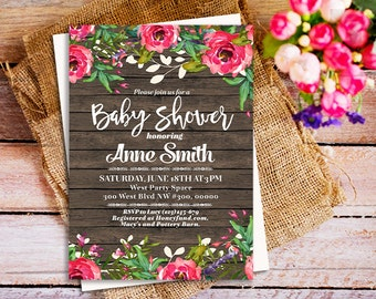 Greatest adventure baby shower invitation greatest adventure rustic wood invitations rustic floral invitation vintage floral baby shower invites barn wood filmwisefo Image collections