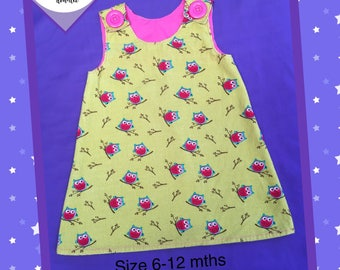 Girls Dress/Size 6-12 months/Pinafore/Winter/Layered/Cotton/Special Occassion