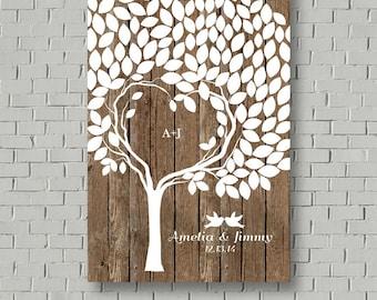 Guest Book Wedding Guest Book Alternative, Rustic Wedding Tree Guest Book Tree, Wedding Signs Wedding Guestbook, Wedding Gift Bridal Gift