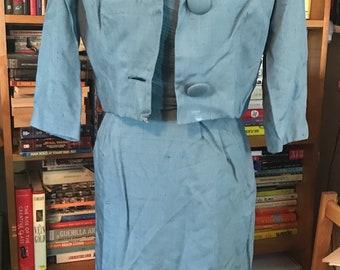 1950's Parnes Feinstein Dress and Jacket Set