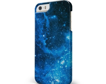 Blue Hue Nebula - iNK-Fuzed Hard Case for the Apple iPhone - Samsung Galaxy & More