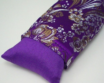 Purple Eye Pillow - Flax Seed  with Lavender or Unscented - Yoga Eye Mask