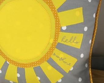 Personalised, Bespoke Cushion Pillow Handmade - Sunshine Cushion