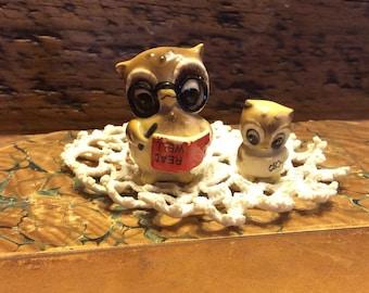 2 Miniature glass owls