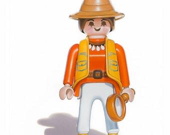 Playmobil Toy Art - 'Safari Girl' 5 x 7 Fine Art Giclee Print