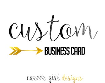 Custom Business/Calling Card, Printable, business cards, instant word document,gold,black, digital file, custom card