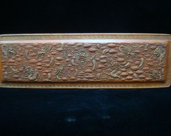 Rare Large Old Chinese Red Zinnober Ink Stick Inkslab Marks