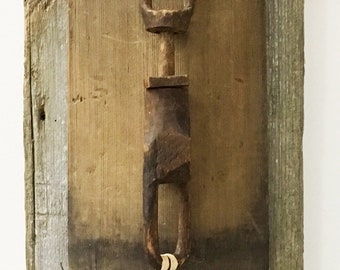 PLEASE COME IN: Found Object Assemblage, Sculpture, Folk Art