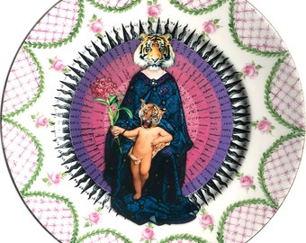 Tigress - Virgin - Madonna - La Seynie Limoges P and P France - More than 100 Years Antique - #0526