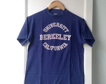 Vintage 1980s University Berkeley California 80s Hanes Tee M Made In USA