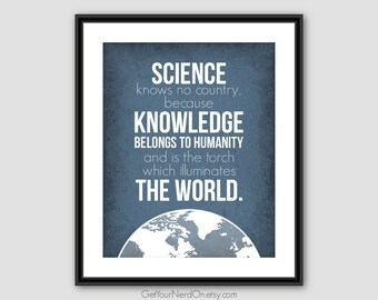 Inspirational Quote, Science Class Art, Nerd Gift Ideas, Science Art Poster