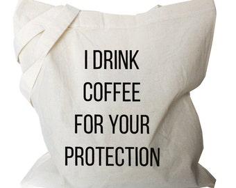Coffee Gifts, Coffee Tote Bag, Coffee Bags, Coffee Totes, Coffee Quote Canvas Tote Bag for Coffee Lover